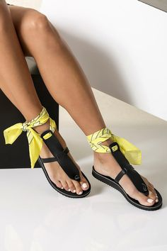Black leather sandals in 6 colocrs with a set of 5 interchangeable bandana laces included! Boho Sandals, Ankle Wrap Sandals, Greek Sandals, Cute Sandals, T Strap Sandals, Gladiator Sandals, Women's Shoes Sandals, Wedge Sandals, Beautiful Sandals