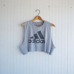 Retro Adidas Crop Top  S/M by PaxSuburbiaGirls on Etsy, $22.00