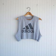 Retro Adidas Crop Top S/M by PaxSuburbiaGirls on Etsy, $22.00