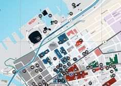 Walkable map of downtown Cleveland, Ohio
