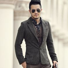 2016 Casual Men Blazer business Slim fit Costume Homme Suit Blaser Masculino Male Woolen Suits Jacket blazer hombres ocasionales
