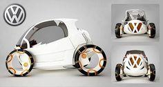 Future Transportation - Green Cars: Splinter – A fuel-cell-powered car for Volkswagen Convertible, E Biker, Fuel Efficient Cars, Futuristic Cars, Futuristic Vehicles, Car Volkswagen, 4 Wheelers, Power Cars, Pedal Cars