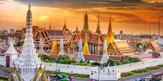Thailand is the travel hub of Southeast Asia. Most people coming into the region fly into Bangkok and make that their base for doing the circuit around Southeast Asia. Krabi Thailand, Bangkok Thailand, Bangkok Guide, Bangkok Travel, Cheapest Places To Fly, Grand Palace Bangkok, Asia City, Vacation Rentals By Owner, Le Palais