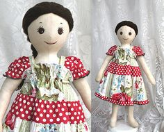 Doll Dress to Match Girl Dress - Fits American Girl, Bamboletta and Waldorf Dolls - Handmade by BerryPatchUSA on Etsy