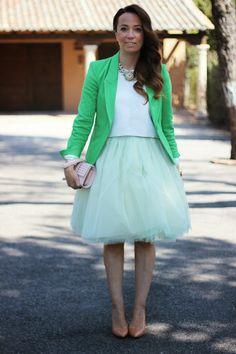 Mi falda de Tul Verde.   Personal shopper   Blog de moda y tendencias   El Armario de Silvia