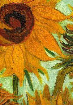 Van Gogh - Sunflowers 1888 detail