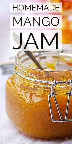 How to make Homemade Mango Cardamom Recipe with step by step photos. Easy mango jam recipe without pectin. Mango Dessert Recipes, Jelly Recipes, Fruit Recipes, Burger Recipes, Jam Recipe Without Pectin, Mango Jam Recipe With Pectin, How To Make Mango Jam Recipe, Mango Butter Recipe, How To Make Jam