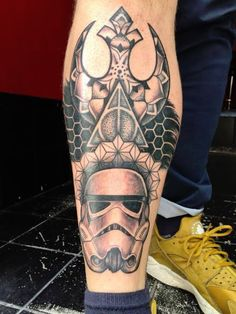 Stormtrooper meets rebel alliance meets geometric designs