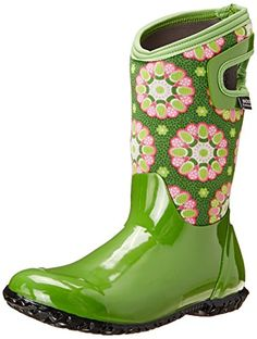 Bogs Kids North Hampton Kaleidoscope Waterproof Insulated Boot * See this great product. North Hampton, Ready To Rumble, Insulated Boots, Waterproof Boots, Girls Shoes, Rubber Rain Boots, Durham, Mud, Outdoors