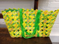 The outer layer of these bags is made of folded tetra pak cartons, and the inner layer is a sturdy fabric including thick fabric straps. The large bag is open, and the medium/small have zips. All include a zippable inner pocket for your valuables. Every bag made by Anu enterprise is unique. We have a range of colours in stock, …