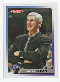 Jerry Sloan # 417 - 2005-06 Topps Total Basketball