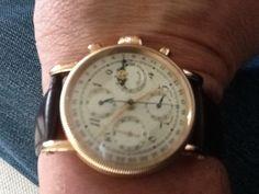 Chronoswiss Lunar Chronograph in 18 carat rose gold.