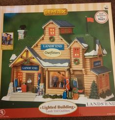 Lemax Lands End lighted Christmas village building