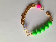 Neon green and neon pink bracelet