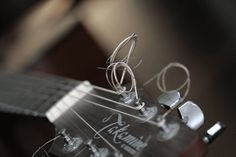 music in my house 2 - 5x7 macro guitar detail musical instrument strings fine art photo - sand and petals photography