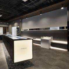 미용실 인테리어 스투디오올라 Cool Retail, Kitchen Showroom, Optical Shop, Counter Design, Exhibition Booth Design, Retail Store Design, Store Interiors, Shop Interior Design, Furniture Making