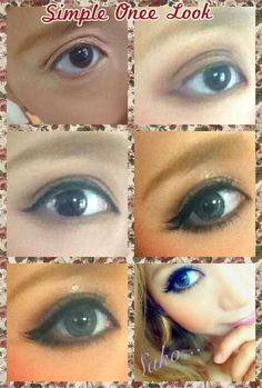 Simple Onee-look step by step pictorial (Onee Gyaru tag)
