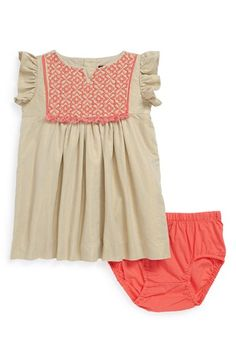 Tea Collection 'Nabila Sparkle' Flutter Sleeve Dress & Bloomers (Baby Girls) available at #Nordstrom