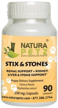 Natura Petz Stix and Stones Renal Support for Puppies Kidney Liver and Stone Support for Puppies 90 Capsules 250mg Per Capsule >>> More info could be found at the image url.