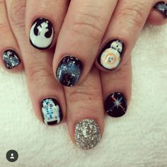 R2D2 and BB-8 nails!