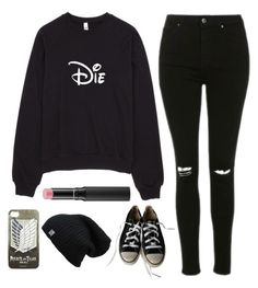 """Untitled #1447"" by chill-outfits ❤ liked on Polyvore featuring Topshop, Converse and MAC Cosmetics"
