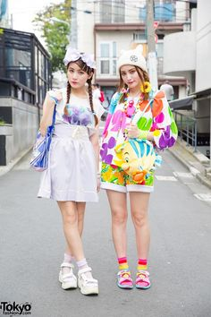 Harajuku Sisters in Colorful Disney Fashion w/ 6%DokiDoki, Angelic Pretty