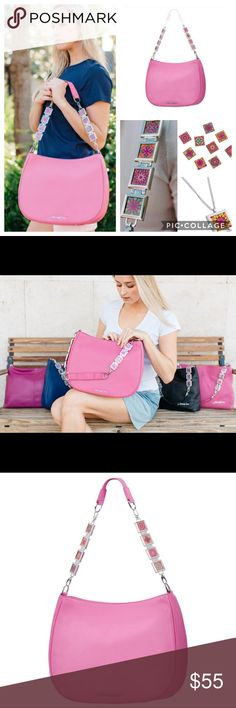 Vienna VannaLuu Leather Locket Strap Handbag Pink