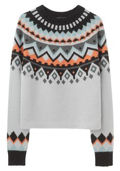 Proenza Schouler / Intarsia Long Sleeve Pullover ... only sweater I would ever want to wearrr