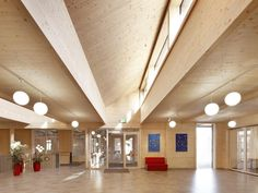 One of the more interesting developments in architecture today is actually a reworking of a very familiar material - Cross Laminated Timber. Architecture Today, Timber Architecture, Architecture Graphics, Architecture Drawings, Architecture Details, Timber Panelling, Timber Beams, Timber Cladding, Timber Wood