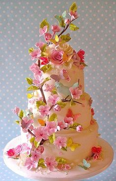 55 Cool Cakes For Teens - Gallery Would be pretty for a wedding if a little less busy