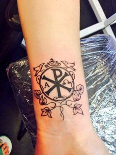 WANT SO BAD. Chi rho tattoo, husband says I can get one once I reach my workout goal!