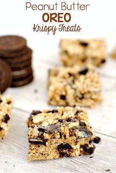 Peanut Butter Oreo Krispy Treats