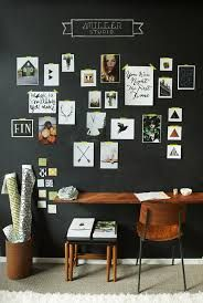 Chalky inspiration wall. Mood lighting. #design #interior #studio http://theysayshewasaflowerchild.wordpress.com/2013/07/12/getting-chalky/