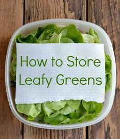 How to Store Leafy Greens! Stop throwing away spoiled food and have a healthier diet and a healthier wallet too! How to Store Leafy Greens! Stop throwing away spoiled food and have a healthier diet and a healthier wallet too! Whole Food Recipes, Cooking Recipes, Healthy Recipes, Cooking Bacon, Healthy Foods, Fast Foods, Healthy Fit, Fast Recipes, Cooking Turkey