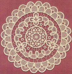 Point lace crochet
