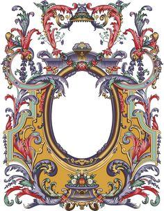 Arabesque, Textile Prints, Textile Design, Baroque Pattern, Baroque Design, Satanic Art, Carving Designs, Ornaments Design, Botanical Drawings
