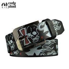 Silver Skull Belt Buckle 13 Stars Tattoo Your Soul Lucky Rock For Men Biker