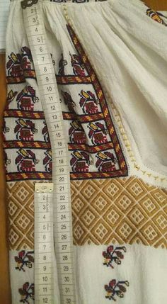 Romanian blouse embroidery detail