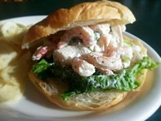 Seafood salad on a buttery,flakey croissant today.