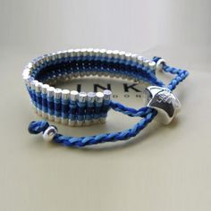 Trap Cut Links of London Friendship Bracelet Powder Blue