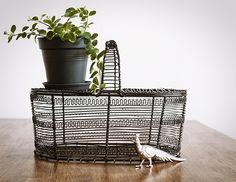 Vintage French Country Egg Wire Basket – Europetastetic