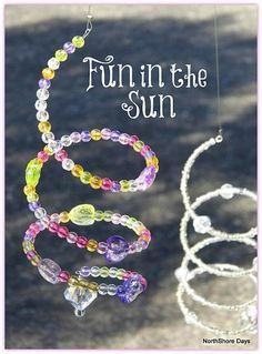 """Craft idea for a meeting  For the """"light"""" Spiral Sun Catchers...make into any shape. Stars would be cute"""