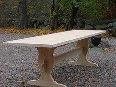 Rustikt bord lÂngt Dining Table, Woodworking, Desk, Furniture, Home Decor, Houses, Desktop, Decoration Home, Room Decor