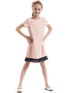 990b15ab73cc Dětské šaty s krátkým rukávem KIDIN - světle růžová
