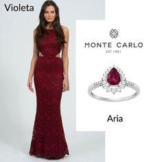 POWERLOOK - Aluguel de Vestidos Online –Nosso vestido Violeta é pura sedução junto com o anel Aria é uma loucura!!!!!  #alugueldevestidos #powerlook #madrinha #casamento #festa #party #glamour #euvoudepowerlook #dress #dreams #arrase #alugue #devolva #modaconsciente #beauty #beautiful #violeta #aria #vinho #anel #pedra