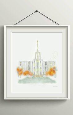 Seattle Temple, Seattle Temple Print. Seattle Temple Printable, LDS Temple Printable, Seattle Temple Instant Download, LDS Temple Download
