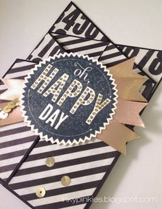 Oh, Happy Day! Cascading Birthday Card with Stampin' Up! Starburst Sayings