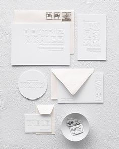 martha stewart white wedding invitations   stationery by alee and press   envelopes by paper source