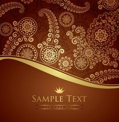 Rich Bronze Paisley Vector Background - http://www.welovesolo.com/rich-bronze-paisley-vector-background/