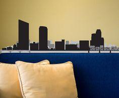 Grand Rapids Michigan Skyline Decal - Vinyl Decal - Car Sticker - Laptop Sticker - Wall Decals - Wall Decor - Reusable Decal